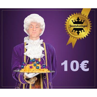 Juustukuningate kinkekaart 10€
