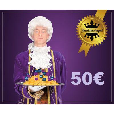 Juustukuningate kinkekaart 50€